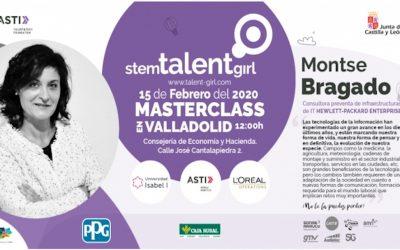 Montse Bragado imparte la cuarta masterclass del proyecto Stem Talent Girl en Valladolid