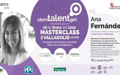Ana Fernández, directora de calidad de AMRI, imparte la 3ª masterclass de Stem Talent Girl en Valladolid