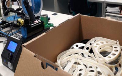 Más de 400 máscaras antisalpicaduras fabricadas por CARTIF para sanitarios de Castilla y León