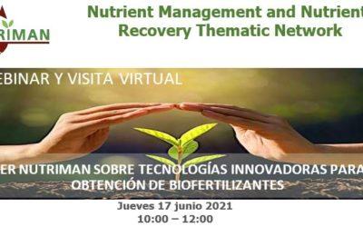 Nuevo taller NUTRIMAN sobre tecnologías innovadoras para la obtención de biofertilizantes