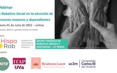 HispaRob organiza su primer webinar sobre Robótica Social con Pablo Viñas como moderador