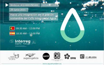 AQUAMUNDAM expone sus conclusiones para una gestión más sostenible del ciclo integral del agua en España y Portugal