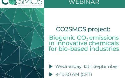 El proyecto CO2SMOS organiza su primer webinar para dar a conocer las principales acciones para mitigar el cambio climático
